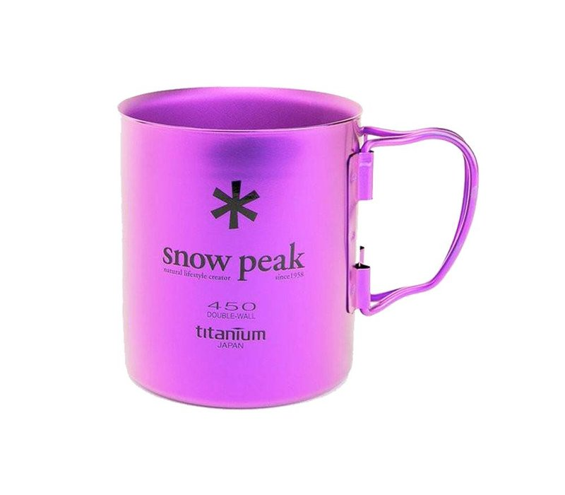Snow Peak Titanium Double-Wall 450 Colored Cup