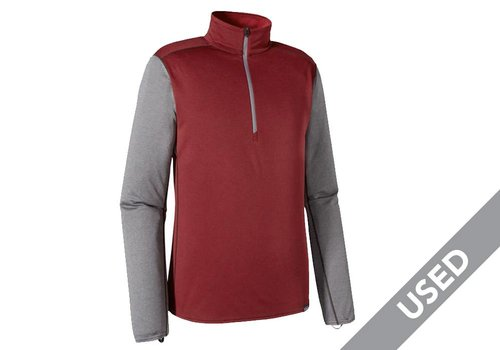 Patagonia Patagonia Men's Capilene Midweight Zip-Neck – Large, Deep Mahogany/Classic Red X-Dye USED