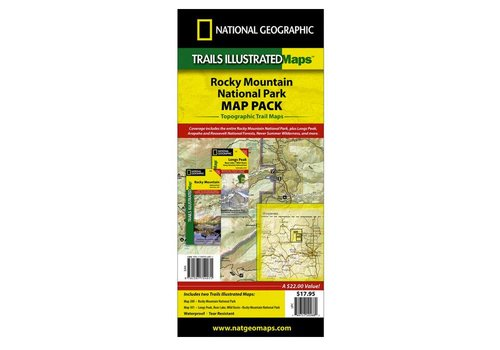 National Geographic National Geographic Rocky Mountain National Park Map Pack (RMNP + Longs Peak)