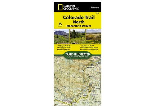 National Geographic National Geographic 1202: Colorado Trail North Monarch to Denver Map