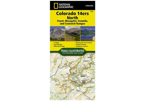 National Geographic National Geographic 1302: Colorado 14ers North | Front | Mosquito | Tenmile | Sawatch Ranges Map
