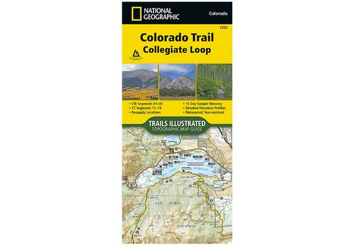 National Geographic National Geographic 1203: Colorado Trail Collegiate Loop Map