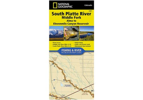 National Geographic 2310: South Platte River Middle Fork Alma to Elevenmile Canyon Reservoir Map