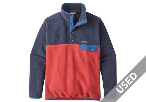 Patagonia Patagonia Men's Lightweight Synchilla Snap-T P/O – XL , Classic Red USED