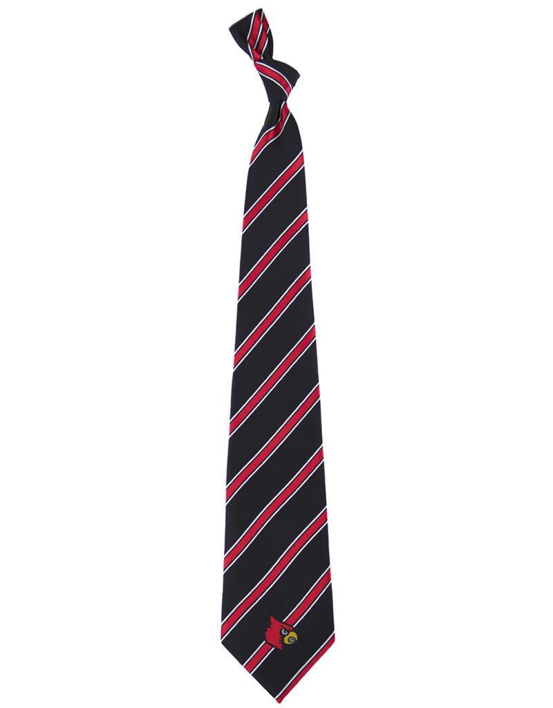 Eagles Wings Neck Tie TIE, WOVEN POLY, STRIPES, BLK/RED, UL