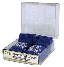Creative Knitwear INFANT BABY BOOTIES, BLUE, UK