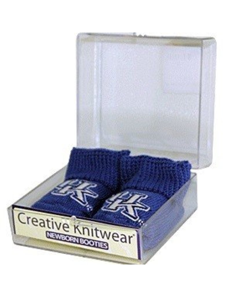 Creative Knitwear INFANT BABY BOOTIES, BLUE, UK