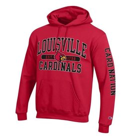 Champion Products HOODY, RED, CARD NATION (MSRP $55.00), UL