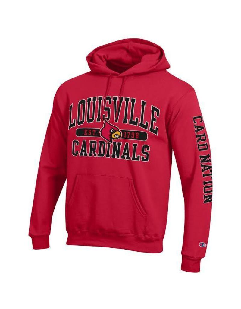 Champion Products HOODY, CARD NATION (MSRP $55.00), RED, UL