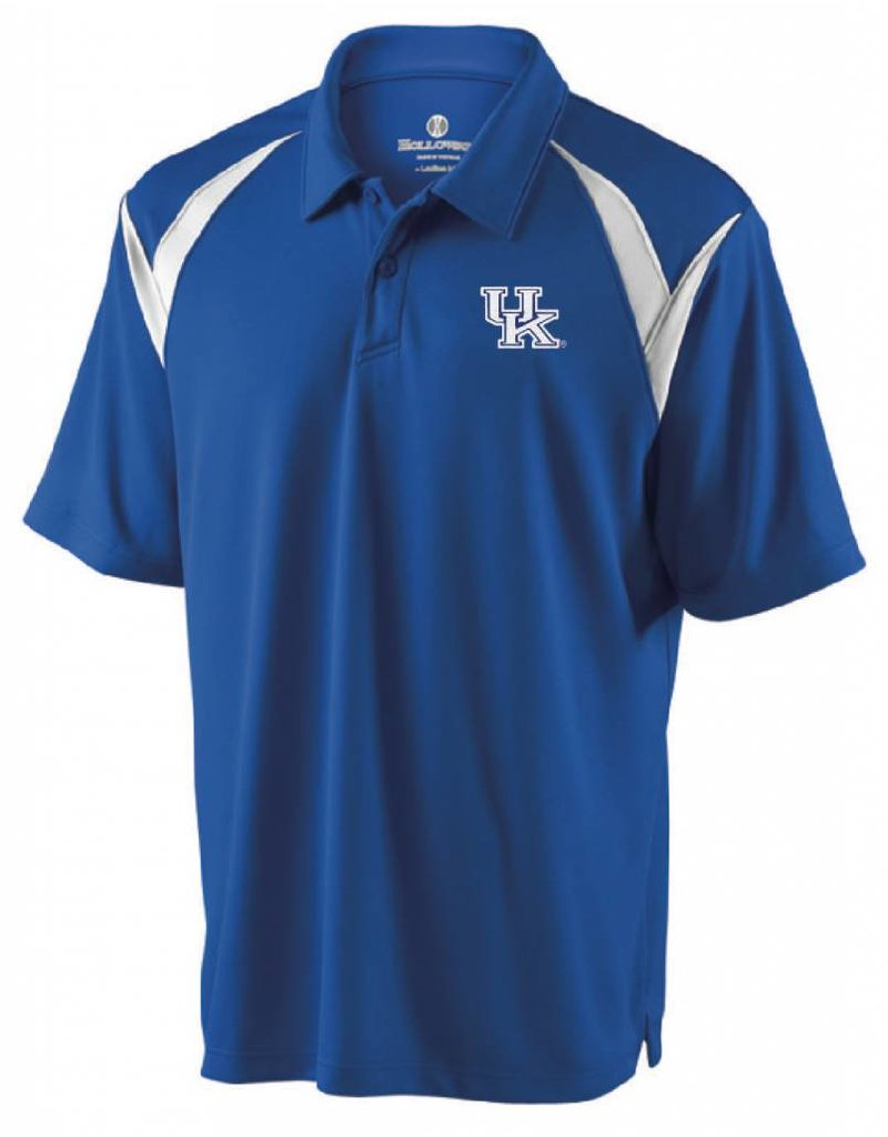 Holloway Group POLO, LASER (MSRP $65.00), ROYAL/WHITE, UK