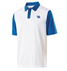 Holloway Group POLO, PIKE (MSRP $65.00), WHITE/ROYAL, UK