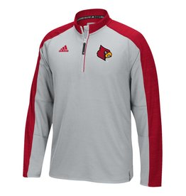 Adidas Sports Licensed PULLOVER, 1/4 ZIP, ADIDAS, LIGHTWEIGHT, SIDELINE, GRAY, UL