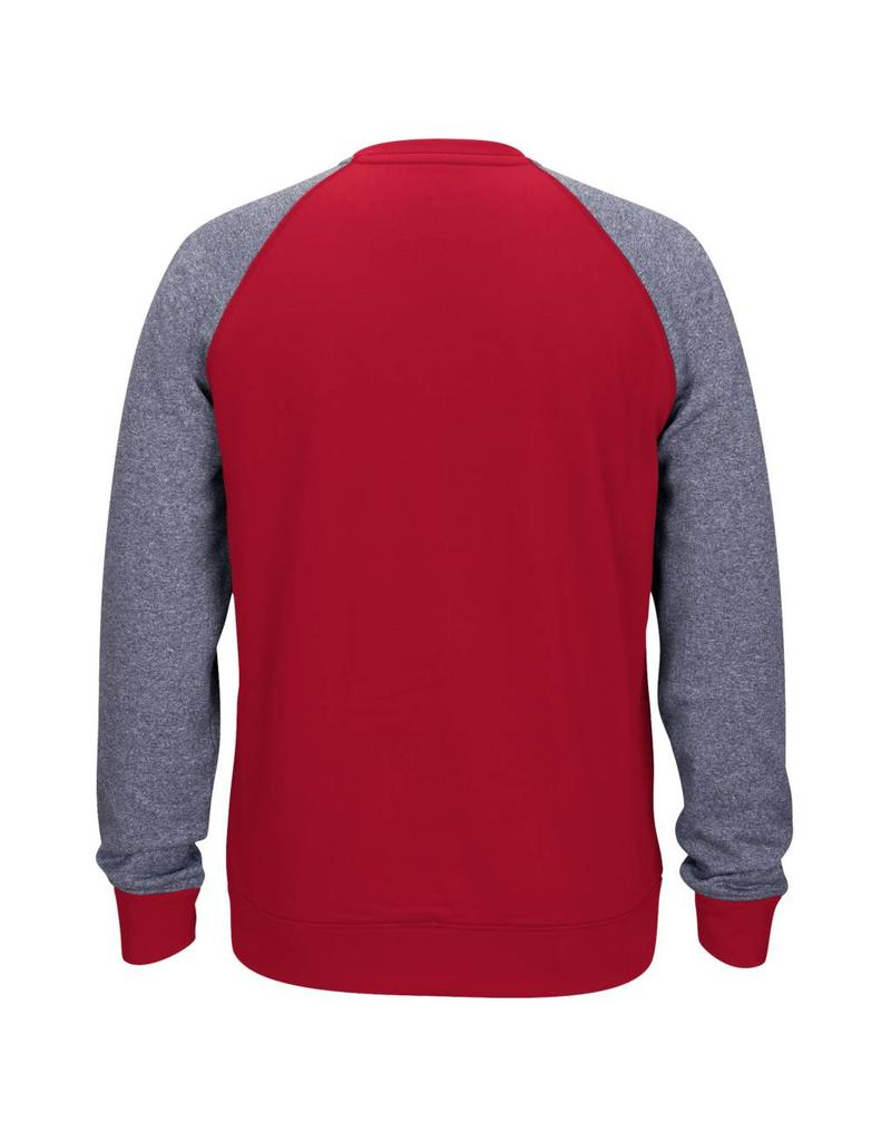 Adidas Sports Licensed CREW, ADIDAS, LIGHTWEIGHT, RAGLAN, RED/GRAY, UL