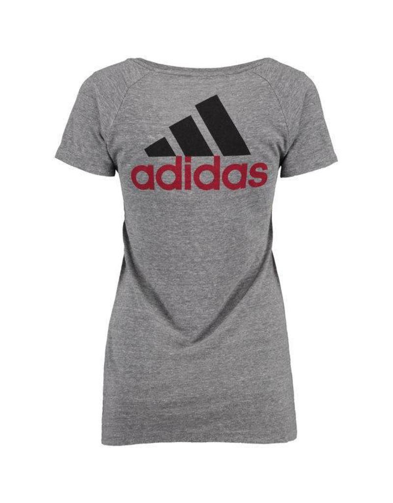 Adidas Sports Licensed TEE, LADIES, SS, ADIDAS, BAR, GRAY, UL
