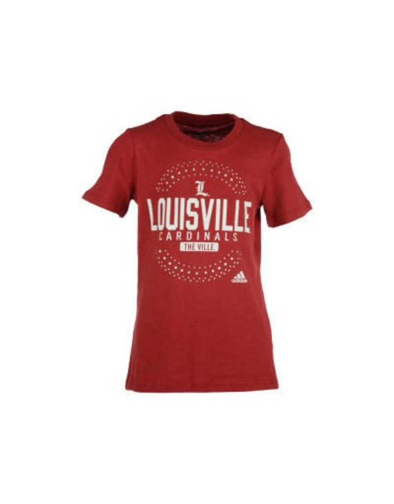 Adidas Sports Licensed TEE, YOUTH, SS, GIRLS, BLING, RED, UL