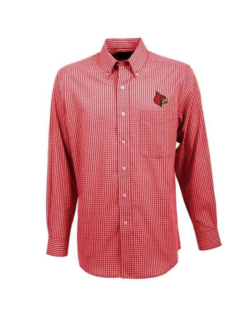Antigua Group DRESS SHIRT, LS, RED, ASSOCIATE, UL