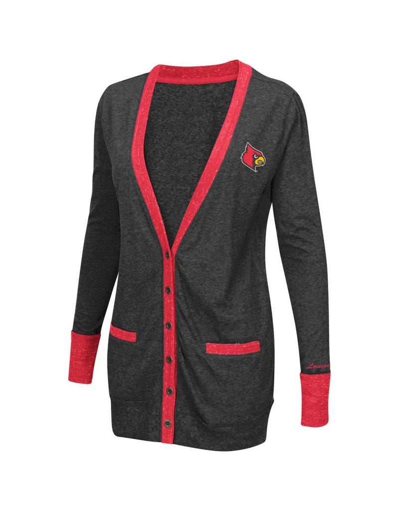 Colosseum Athletics LADIES, LS, CARDIGAN (MSRP $50.00), CHAR, UL
