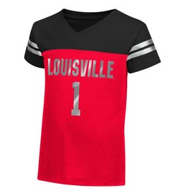 Colosseum Athletics TEE, TODDLER, SS, GIRLS, NICKLE, RED/BLACK, UL