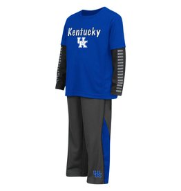 Colosseum Athletics TODDLER SET,  LS, XENON (MSRP $39.99), ROYAL/CHARCOAL, UK