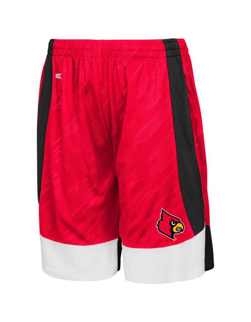 Colosseum Athletics SHORT, YOUTH, SLEET (MSRP $45.00), RED, UL