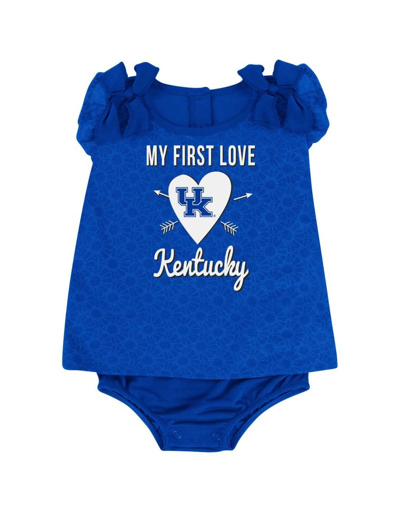 Colosseum Athletics ONESIE, INFANT, SS, GIRLS, LOVE, ROYAL, UK