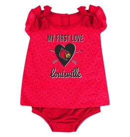 Colosseum Athletics ONESIE, INFANT, SS, GIRLS, LOVE, RED, UL