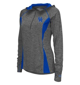 Colosseum Athletics PULLOVER, LADIES, 1/4 ZIP, HOODED, MONET (MSRP $60.00), UK