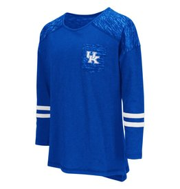 Colosseum Athletics TEE, YOUTH, GIRLS, LS, PHAT (MSRP $30.00), ROYAL, UK