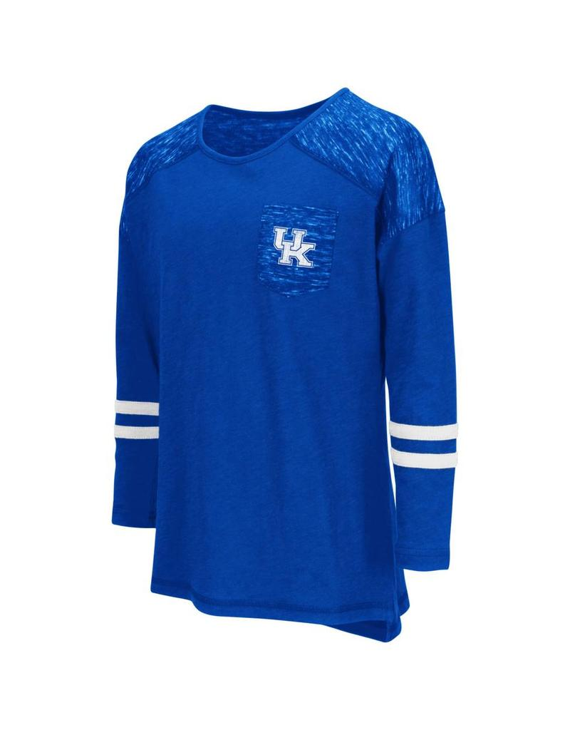 Colosseum Athletics TEE, YOUTH, LS, GIRLS, PHAT (MSRP $30.00), ROYAL, UK