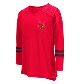 Colosseum Athletics TEE, YOUTH, LS, GIRLS, PHAT, RED, UL