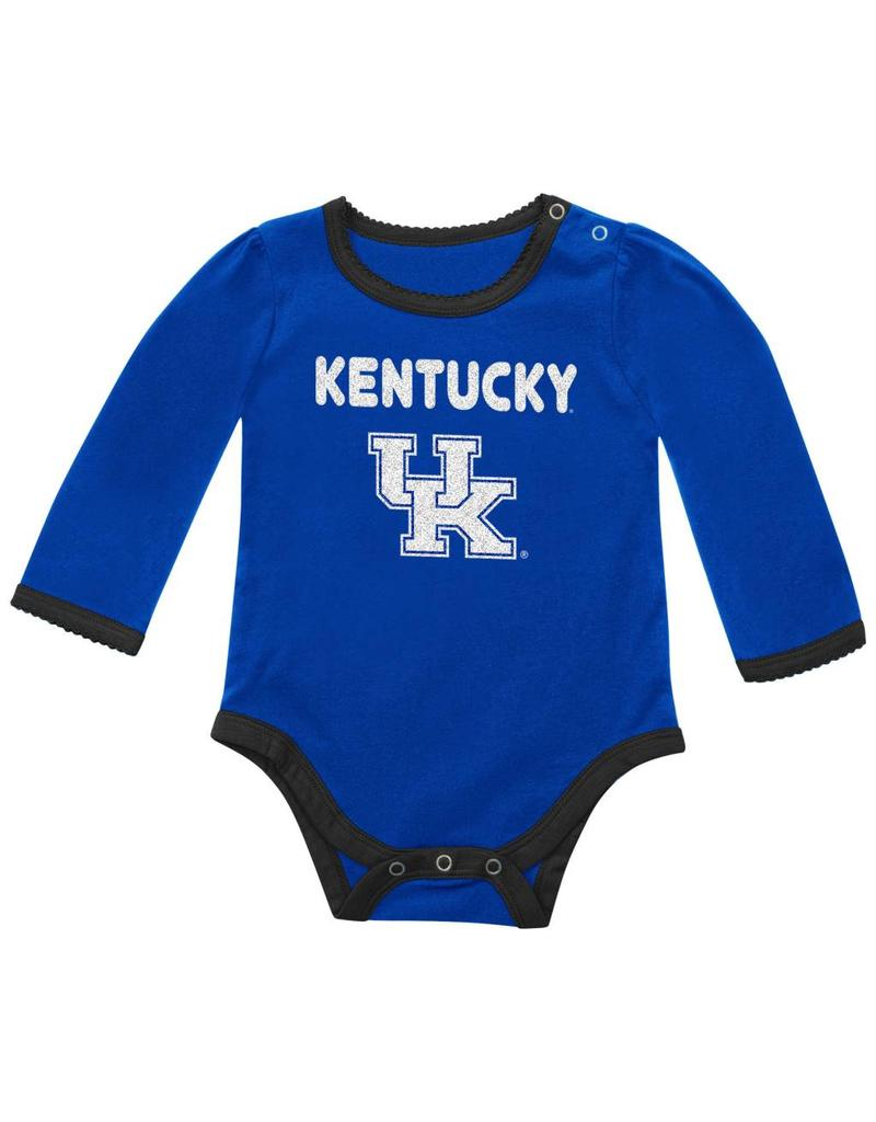 Colosseum Athletics ONESIE, INFANT, SS, GIRLS, BLING (MSRP $25.00), ROYAL, UK