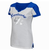 Colosseum Athletics TEE, LADIES, SS, GET SPIRITED, WHITE/ROYAL, UK
