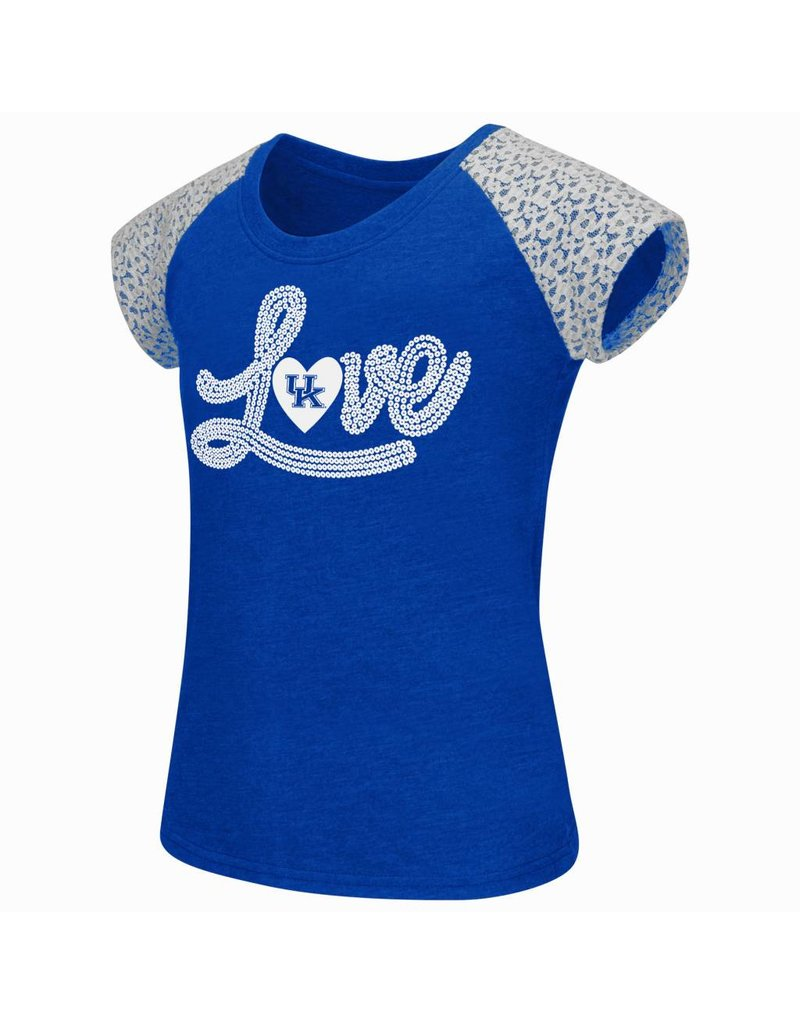 Colosseum Athletics TEE, YOUTH, SS, GIRLS, LACE, ROY/WHT, UK