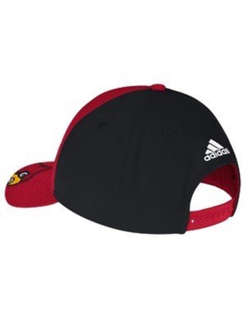 Adidas Sports Licensed HAT, ADJUSTABLE, PEEK, RED/BLACK, UL