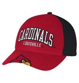Adidas Sports Licensed HAT, ADJUSTABLE, PEEK, RED/BLACK, UL
