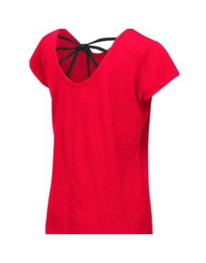 Colosseum Athletics TEE, YOUTH, SS, GIRLS, BOW, RED, UL