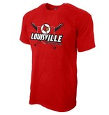 Step Ahead Sportswear TEE, SS, BASEBALL, HIT EM DEEP, RED, UL