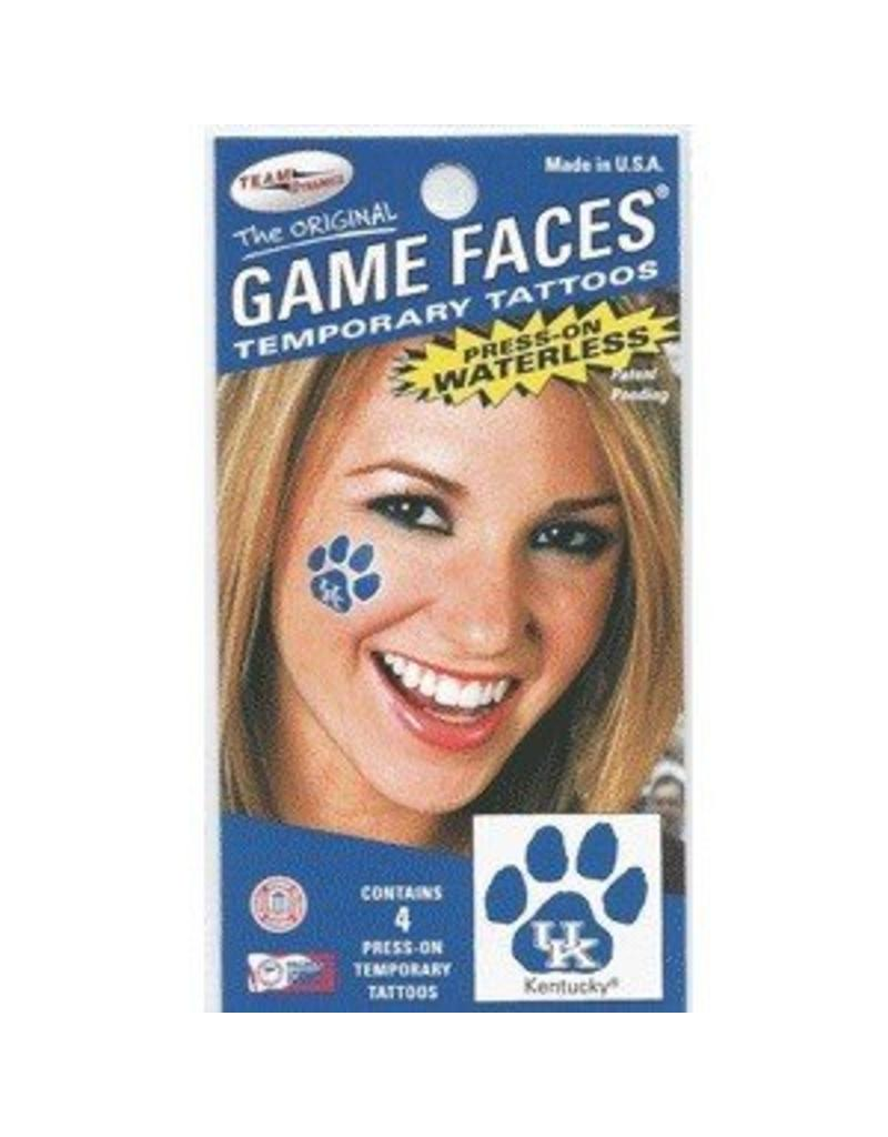 Fan A Peel FACE TATTOOS, UK PAW, 4 PACK, UK