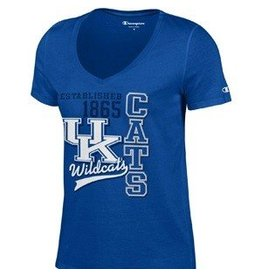 Champion Products TEE, LADIES, SS, V-NECK, UNIVERSITY, ROYAL, UK