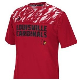 Adidas Sports Licensed TEE, SS, ADIDAS, SIDELINE CREW, RED, UL