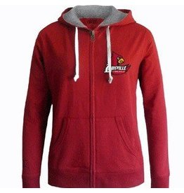 E5 College Classics HOODY, LADIES, FULL-ZIP, RHINESTONE, UL