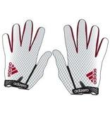 Saranac Gloves GLOVES, ADIDAS, ADIZERO, RECEIVER, WHITE/RED, UL