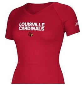 Adidas Sports Licensed TEE, LADIES, SS, RED, HUSTLE, UL