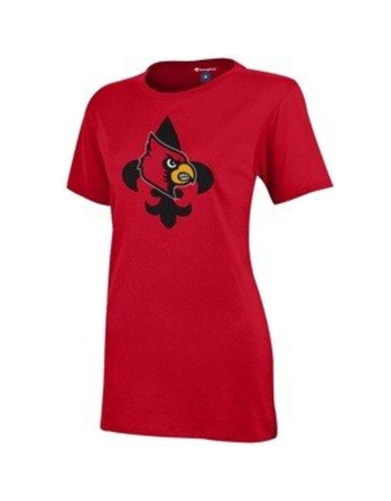 Champion Products TEE, LADIES, SS, FLEUR-DE-LIS, RED, UL