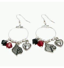 EARRINGS, HOOK, CRYSTAL, UL