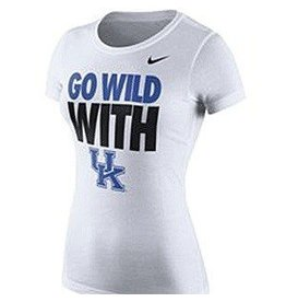 Nike Team Sports TEE, LADIES, SS, NIKE, GO WILD, WHITE, UK