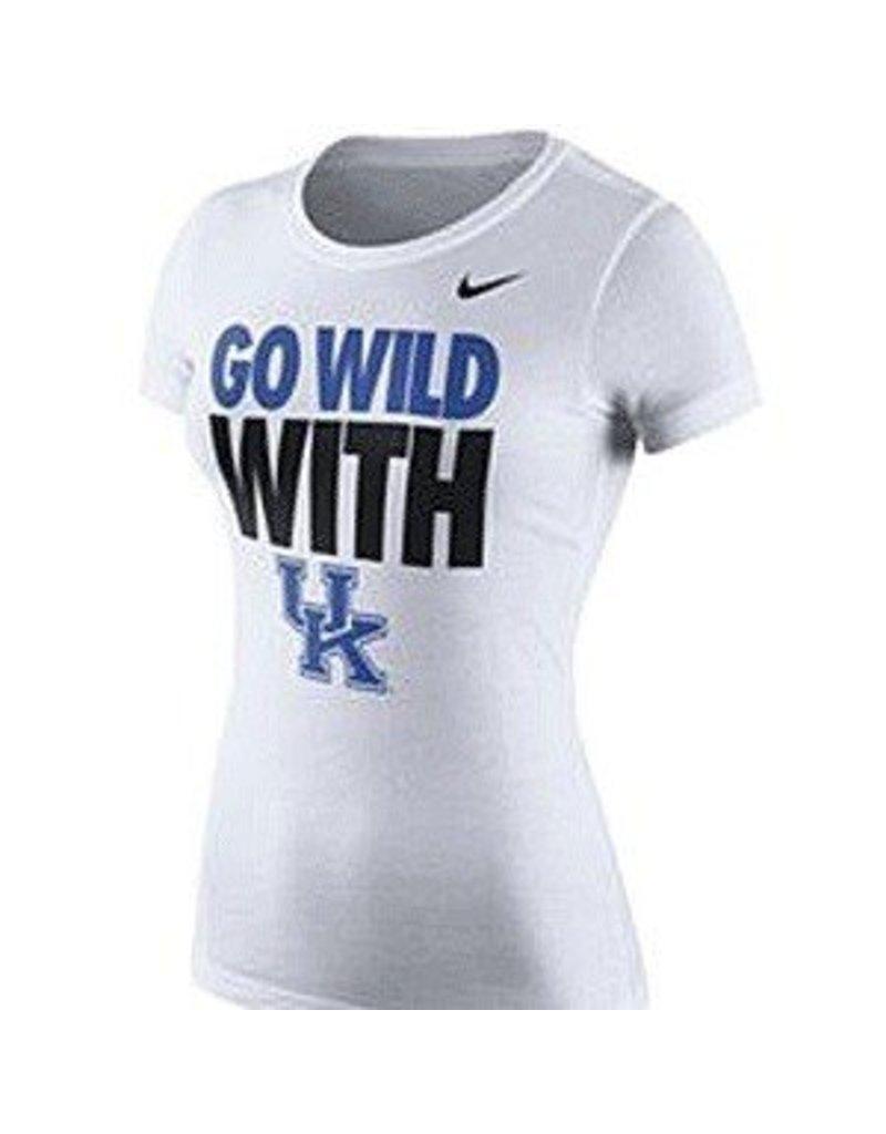 Nike Team Sports TEE, LADIES, SS, NIKE, GO WILD, WHITE, UK