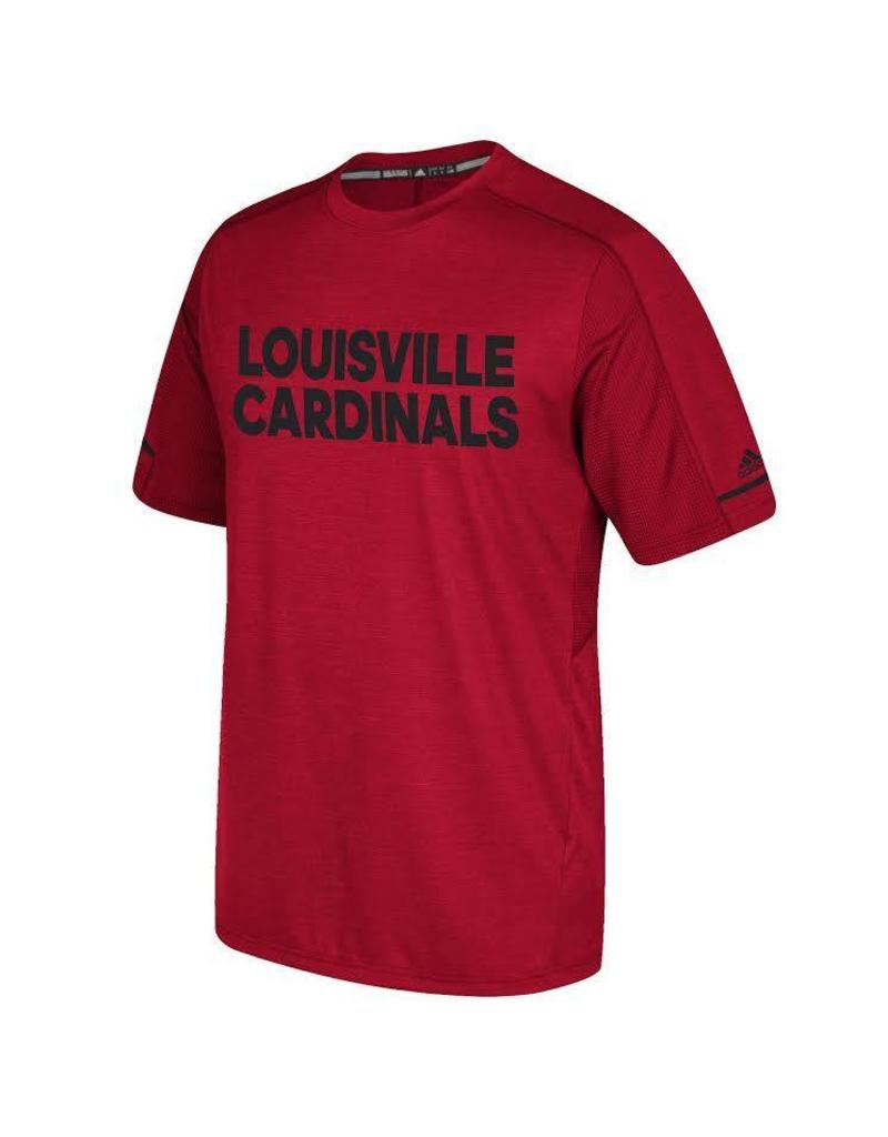 Adidas Sports Licensed TEE, SS, ADIDAS, SIDELINE, PERFORMANCE, RED, UL