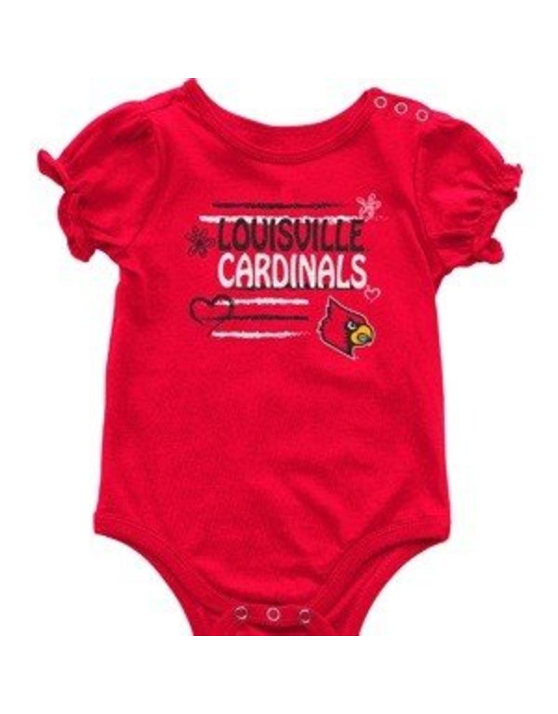 Colosseum Athletics ONESIE, INFANT, SS, GIRLS, FRIENDS, RED, UL