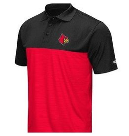 Colosseum Athletics POLO, VAULT (MSRP  $60.00), BLK/RED, UL